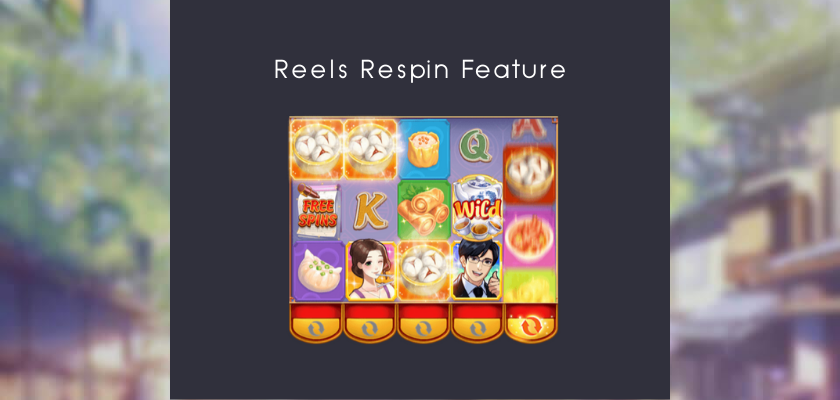 Dim Sum Mania - reels respin feature