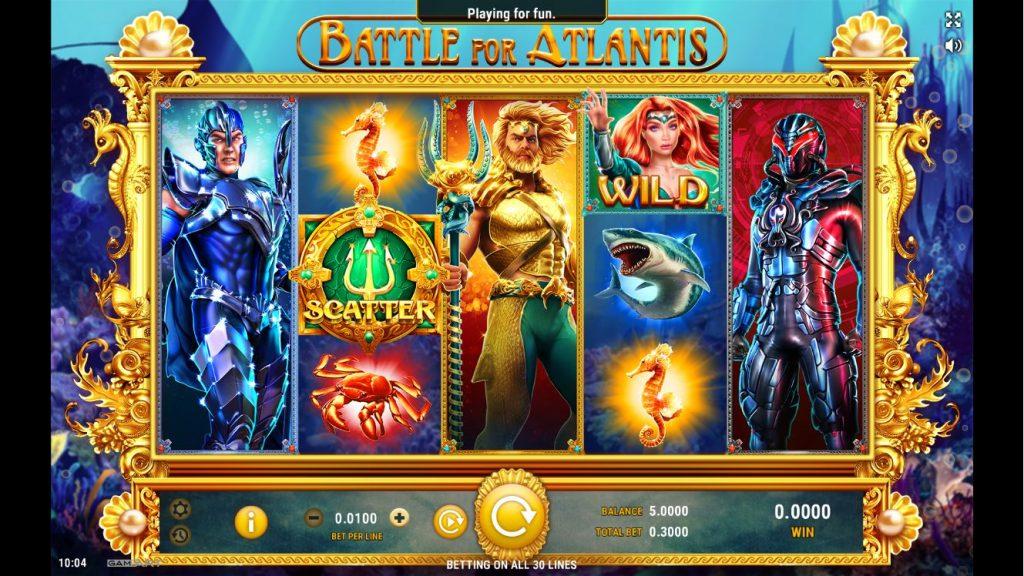 เกมสล็อตออนไลน์ Battle for Atlantis
