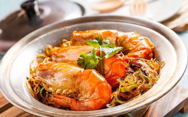 กุ้งอบวุ้นเส้น อาหารคลีน อาการเพื่อสุขภาพ ควบคุมอาหาร ลดน้ำหนัก อาหารมีประโยชน์ ร่างกานแข็งแรง